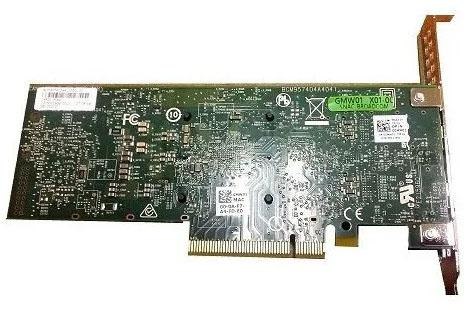 Адаптер Dell Dual port Broadcom 57416 10Gbit Base-T PCIe FP for 14G (540-BBUO)