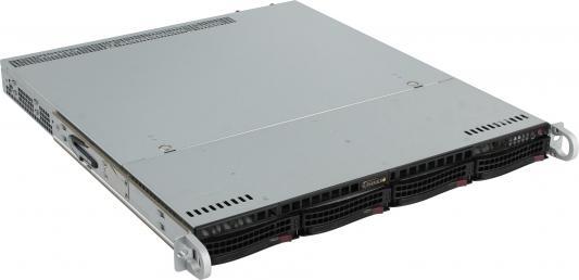 Серверный корпус 1U Supermicro CSE-813MFTQC-R407CB 2 х 2400 Вт чёрный корпус для сервера 1u 400w cse 515 r407 supermicro