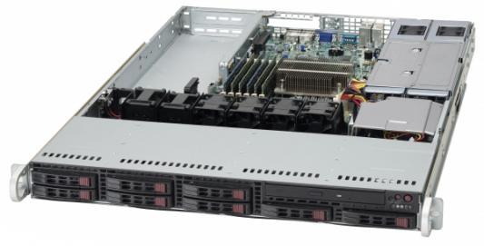 Серверный корпус 1U Supermicro CSE-113AC2-R706WB2 2x750 Вт чёрный корпус для сервера 1u 400w cse 515 r407 supermicro