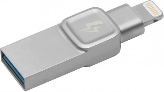 Фото - Флеш Диск Kingston 64Gb DataTraveler Bolt Duo C-USB3L-SR64G-EN USB3.1 серебристый флеш диск kingston 128gb datatraveler exodia
