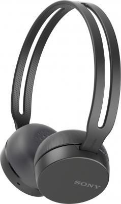 лучшая цена Гарнитура накладные Sony WH-CH400 черный беспроводные bluetooth (оголовье)