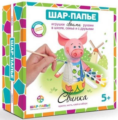 Набор для творчества ШАР-ПАПЬЕ Свинка от 5 лет раскраски шар папье елочка с узором