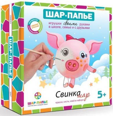 Набор для творчества ШАР-ПАПЬЕ Свинка Шар от 5 лет ecopro шар