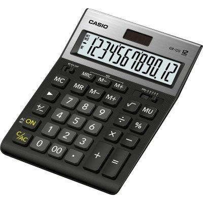 Калькулятор настольный CASIO GR-120-W-EP 12-разрядный черный