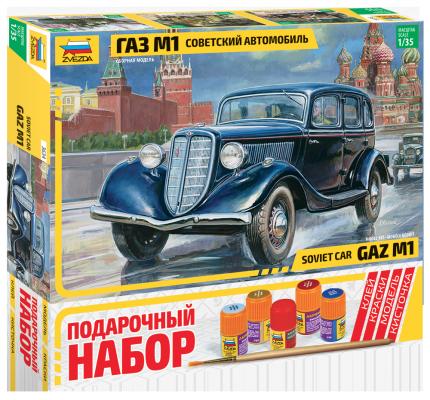 Автомобиль Звезда Автомобиль ГАЗ-М1 1:35 автомобиль звезда газ тигр с птрк 1 35 зеленый 3682