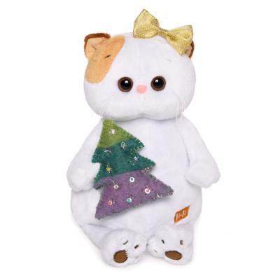 Мягкая игрушка кошка BUDI BASA Ли-Ли с ёлочкой искусственный мех 24 см игрушка мягкая кошка мурыся 3060 bt