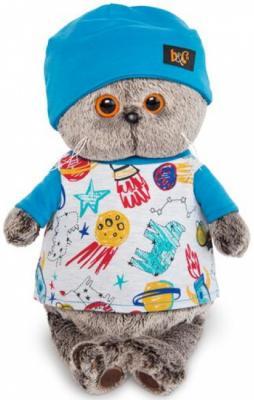 Мягкая игрушка BUDI BASA Ks22-091 Басик в футболке космос и в шапочке 22см budi basa budi basa мягкая игрушка басик baby в колпаке со снеговичком 30 см