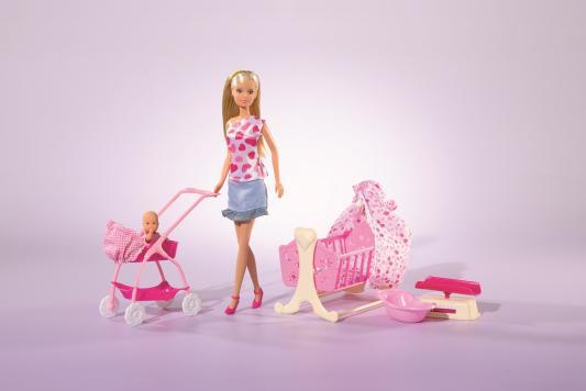 Купить Кукла Steffi Love с новорожденным 5730861, пластик, текстиль, Куклы Steffi