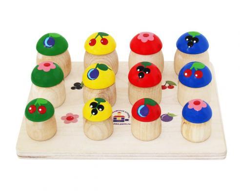 Набор КРАСНОКАМСКАЯ ИГРУШКА Н-60 Грибочки 12шт краснокамская игрушка деревянная пирамидка краснокамская игрушка семицветик
