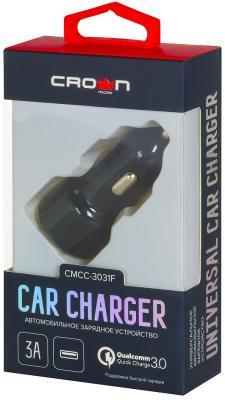 Автомобильное зарядное устройство Crown CMCC-3031F 3/2/1.5 А черный автомобильное зарядное устройство buro tj 201b 2 х usb 4 8 а черный