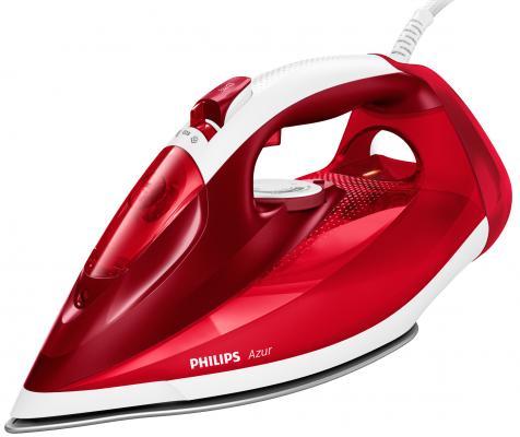 Фото - Утюг Philips/ 2500 Вт, Удар: 200г, Подача: 45 г/мин., Подошва: SteamGlide Plus, красный/белый утюг philips 2500 вт удар 200г подача 45 г мин подошва steamglide plus красный белый