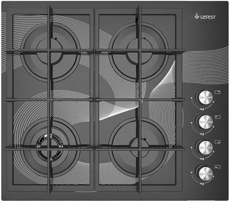 Варочная панель газовая Gefest СВН 2230-01 К26 черный/рисунок