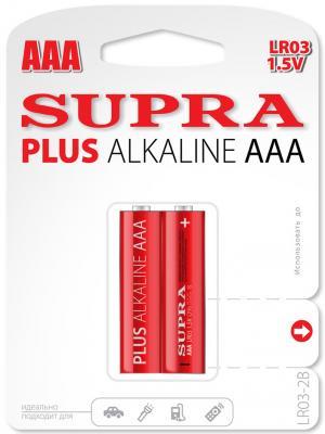 Батарейки Supra LR03-2B AAA 2 шт батарейки samsung pleomax aaa 2 шт