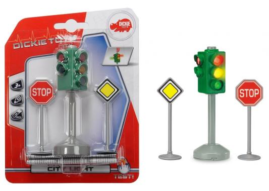 Набор Dickie Светофор и дорожные знаки игрушка dickie toys светофор набор дорожных знаков 3741001