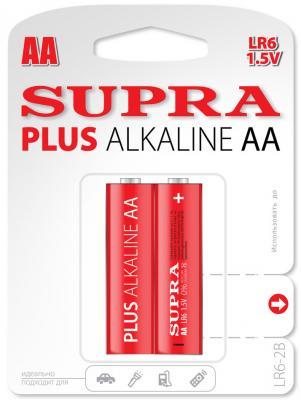 Батарейки Supra LR6-2B AA 2 шт батарейки duracell аа lr6 2bl basic cn 2 шт