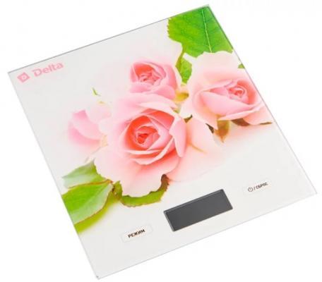 Весы кухонные DELTA КСЕ-56 Розовые розочки весы delta ксе 36 черника