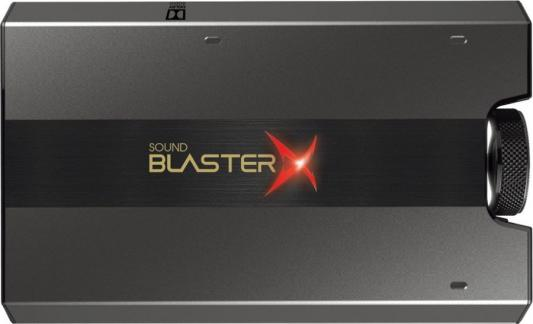 Звуковая карта Creative USB Sound BlasterX G6 (SB-Axx1) 7.1 Ret звуковая карта creative usb sound blasterx g6 sb axx1 7 1 ret