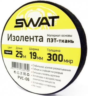 Изолента Swat PVC-06 25м 0.3x19мм ПЭТ-ткань (упак.:1шт) батарейки sony 335 sr512swn pb 1шт