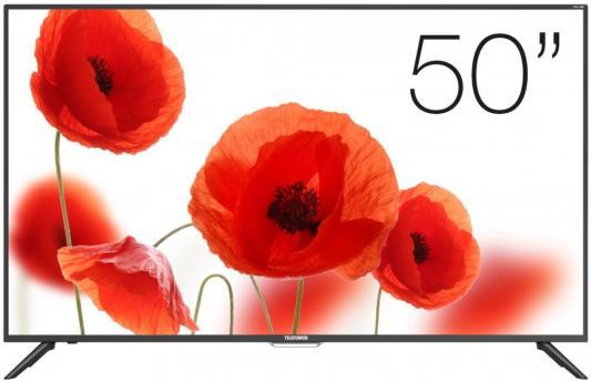 Телевизор Telefunken TF-LED50S60T2SU черный цена и фото