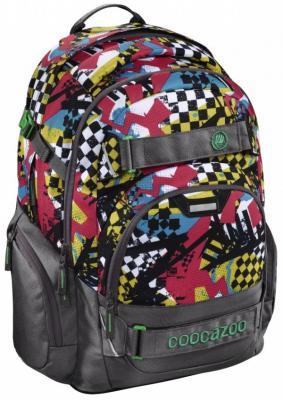 Школьный рюкзак светоотражающие материалы Coocazoo CarryLarry2: Checkered Bolts 30 л серый красный 00129970 школьный рюкзак светоотражающие материалы coocazoo carrylarry2 green purple district 30 л синий бирюзовый 00138740