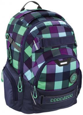 Школьный рюкзак светоотражающие материалы Coocazoo CarryLarry2: Green Purple District 30 л синий бирюзовый 00138740 дневник школьный unnika land государственная символика 212х167 мм синий