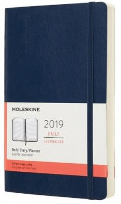 moleskine ежедневник Ежедневник Moleskine CLASSIC SOFT Large 130х210мм 400стр. мягкая обложка синий сапфир