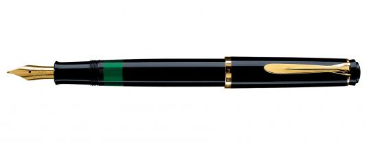 Ручка перьевая Pelikan Elegance Classic M200 (993915) черный F перо сталь нержавеющая/позолота подар.кор. ручка перьевая pelikan elegance classic m205 pl972075 черный f перо сталь нержавеющая подар кор