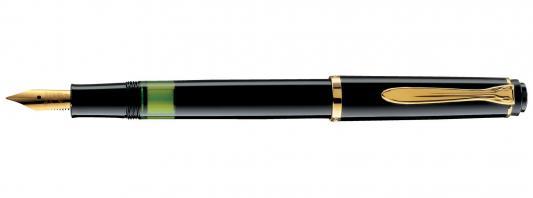 Ручка перьевая Pelikan Elegance Classic M150 (993535) черный F перо сталь нержавеющая/позолота подар.кор. ручка перьевая pelikan elegance classic m205 pl972075 черный f перо сталь нержавеющая подар кор