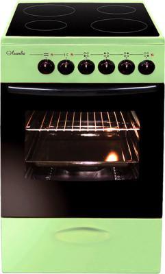 Плита Электрическая Лысьва ЭПС 402 МС зеленый стеклокерамика электроплита лысьва эпс 411 мс чёрная