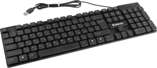 Defender Element HB-190 USB RU [45190] {Клавиатура проводная },черный,полноразмерная цена и фото