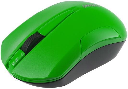 Perfeo мышь беспров., оптич., SONATA, 3 кн, 1000 DPI, USB, зелёный [PF_A4125] мышь perfeo pf 111 ni беспров usb page 9