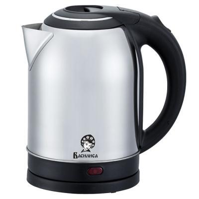Эл.чайник ВАСИЛИСА Т31-2000 нерж/черный: 2000 Вт, 2,0 л (Россия) чайник василиса т32 2000