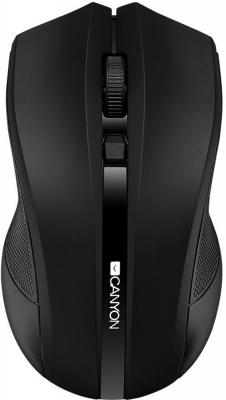 Мышь беспроводная CANYON CNE-CMSW05B, 2.4GHz wireless with 4 buttons, DPI 800/1200/1600, черный цена и фото