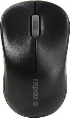 Мышь беспроводная Rapoo 6010B чёрный USB + Bluetooth мышь rapoo 3300p plus white usb