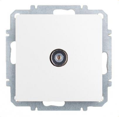Розетка ZAKRU 600390 CLASICO TV (Белый) 5-862 МГц