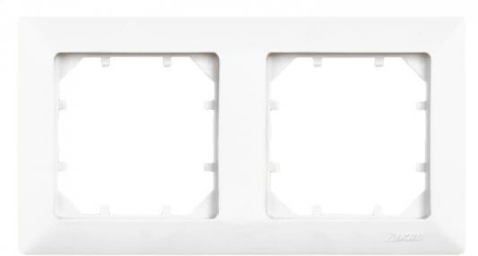 Рамка ZAKRU 600062 CLASICO 2 поста (Белый) пластик
