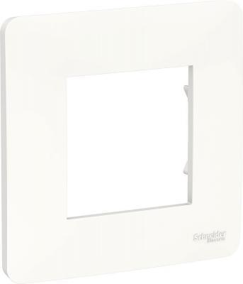 Рамка SCHNEIDER ELECTRIC NU200218 unica studio 1-постовая белый