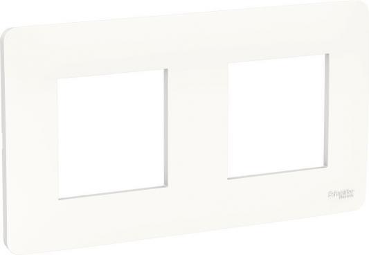 Рамка SCHNEIDER ELECTRIC NU200418 unica studio 2-постовая белый