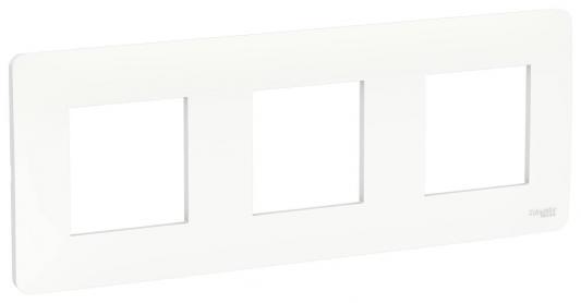 Рамка SCHNEIDER ELECTRIC NU200618 unica studio 3-постовая белый