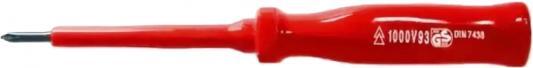 Отвертка FIT 55801 изолированночкая crv 1000 в 3 х 75мм шлиц отвертка т образная fit 20 насадок crv головки