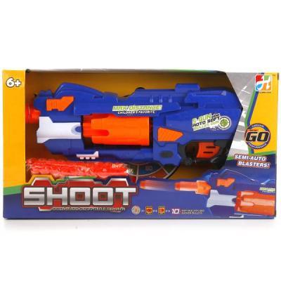 Купить Пистолет Играем вместе ПИСТОЛЕТ С МЯГКИМИ ПУЛЯМИ НА ПРИСОСКАХ, С МИШЕНЬЮ 7007 синий оранжевый B1280127, синий, оранжевый, 7x37x20 см, для мальчика, Игрушечное оружие