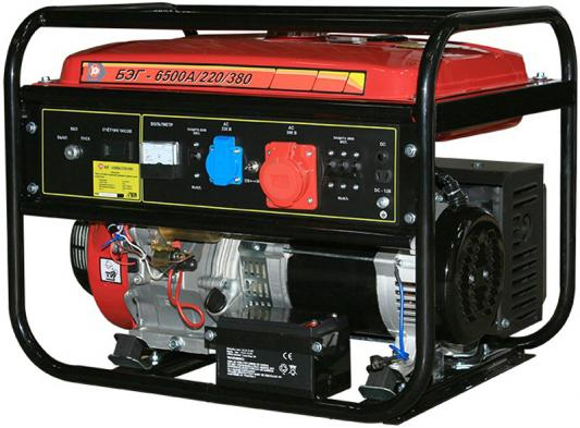 цена на Бензогенератор КАЛИБР БЭГ-6500А/220/380 7.3 кВа/5.8 кВт, 420 см3, бак 25л, время работы: ч.