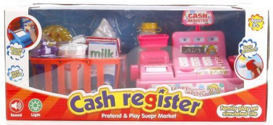 Купить КАССОВЫЙ АППАРАТ НА БАТ. СВЕТ+ЗВУК, С ПРОДУКТАМИ 5510 В КОР. 37*17*16СМ в кор.2*12шт, Shantou, для девочки, Игровые наборы Детский супермаркет