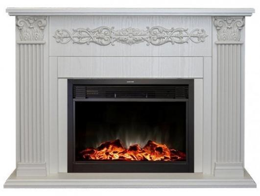 Электрокамин Real Flame Milton 25,5/26 WT 1800 Вт пульт ДУ таймер обогрев белый дуб электрокамин real flame ottawa wt rimini