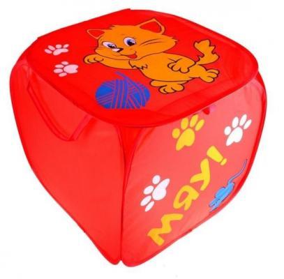 Корзина для игрушек Котята с ручками и крышкой