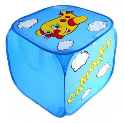 Купить Корзина для игрушек Самолет с ручками и крышкой, Наша Игрушка, разноцветный, Хранение игрушек
