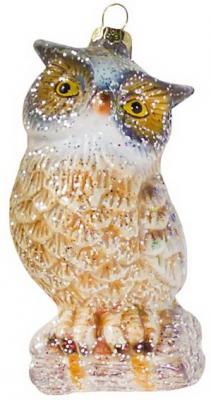 Украшение Новогодняя сказка Сова 12 см 1 шт пластик ol 6493 xeфигура сова сказка перед сном sealmark