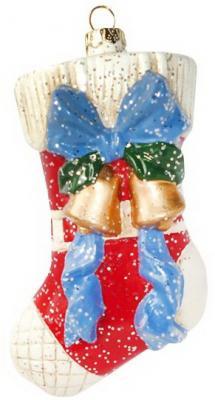 Украшение Новогодняя сказка Подарочный носок 12.5 см 1 шт пластик ёлочное украшение новогодняя сказка воздушный шар 12 5 см пластик