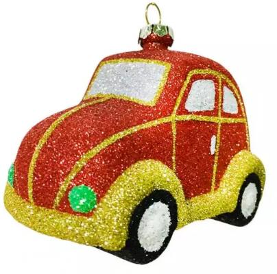 Елочные украшения Новогодняя сказка Машинка 8 см 1 шт пластмасса, блестки