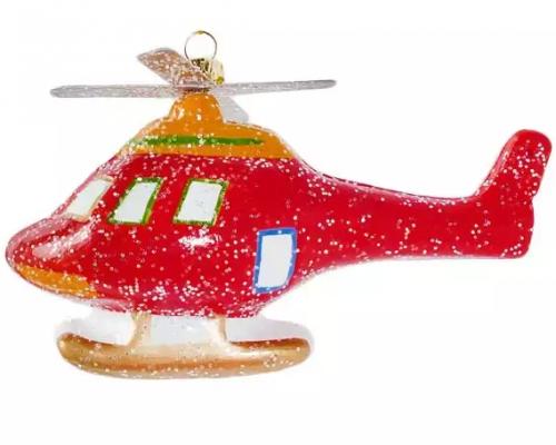 Елочные украшения Новогодняя сказка Вертолет 7 см 1 шт пластмасса, блестки